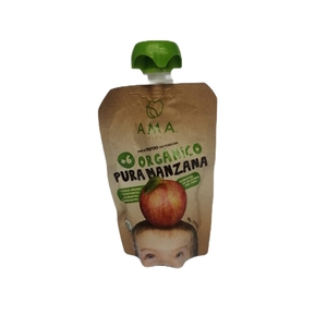 Pure De Fruta Organico Manzana Ama (LOGO)