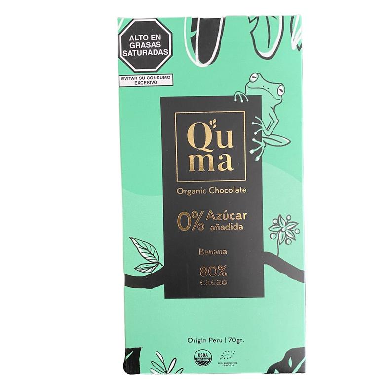 Chocolate Banana 80% Cacao Quma 70gr