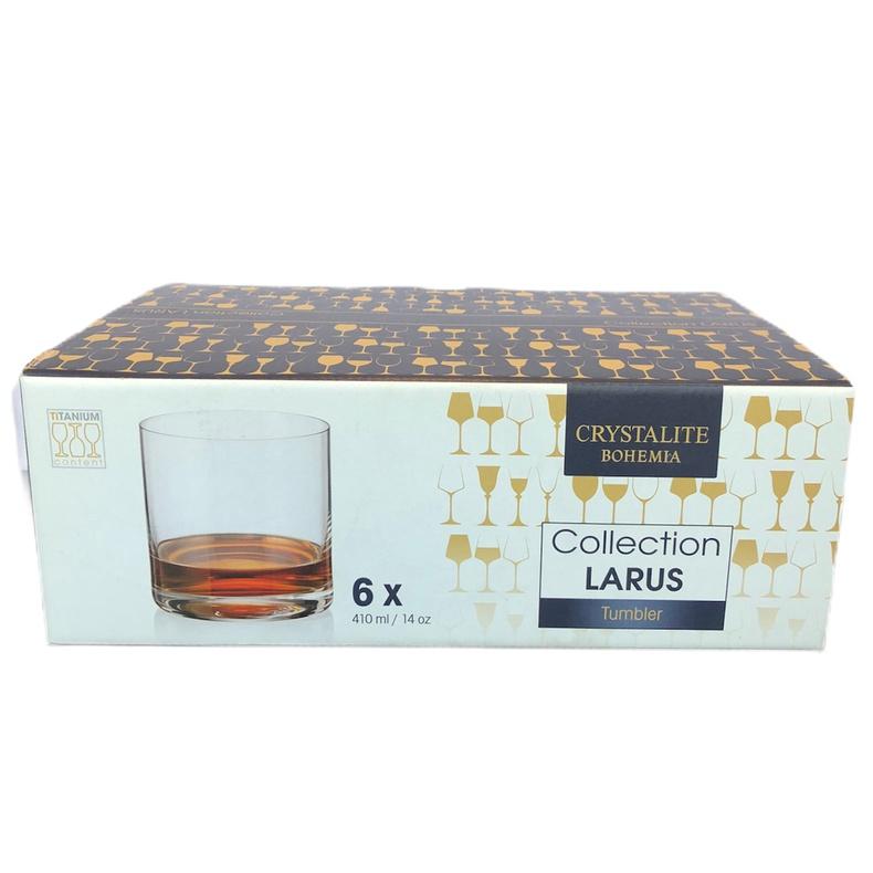 Set 6 vasos Laurus Whisky 410ml Bohemia