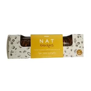 Crackers Nat Caju, jenjibre y pasas