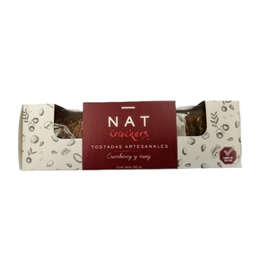 Crackers Nat Cranberry y Nuez 170 Grs