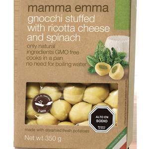 Gnocchi con Queso ricotta y Espinaca (Mamma Emma)