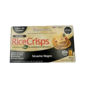 Rice Crisps- Black Sesame 100gr