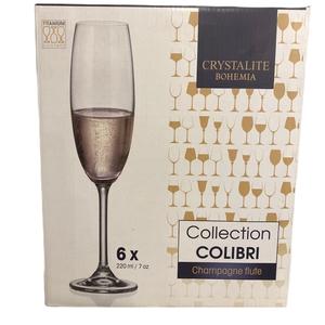 Bohemia Set 6 copas Colibri Champagne