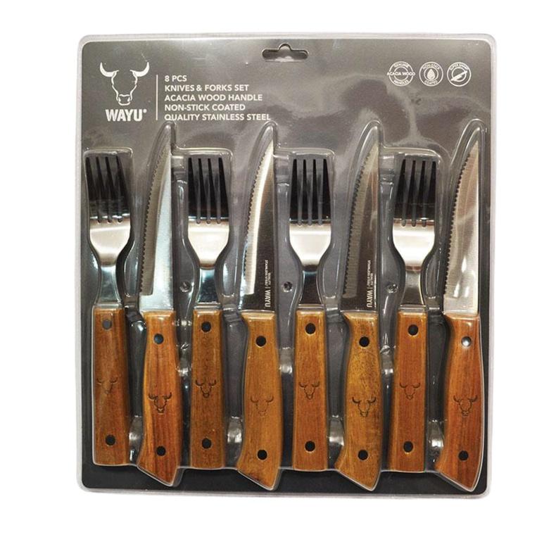 Set Cuchillo y Tenedor 8 piezas (Wayu)