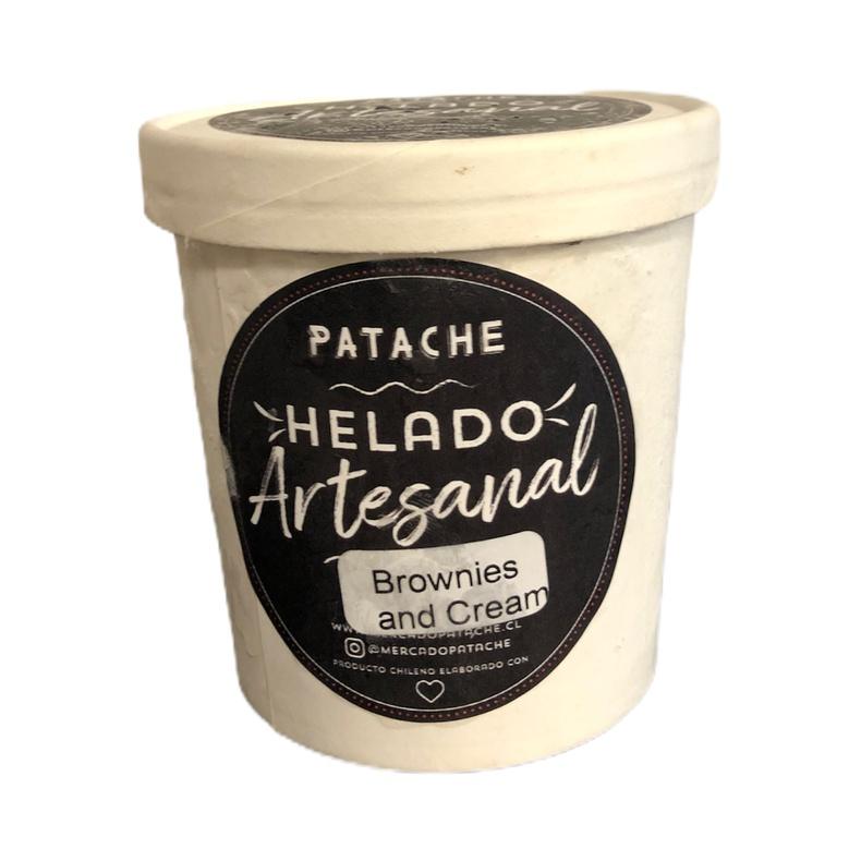 Helado Artesanal Brownies & Cookies 500ml (Patache)