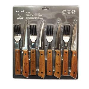 Set de cuchillos y tenedores 8 pcs wayu