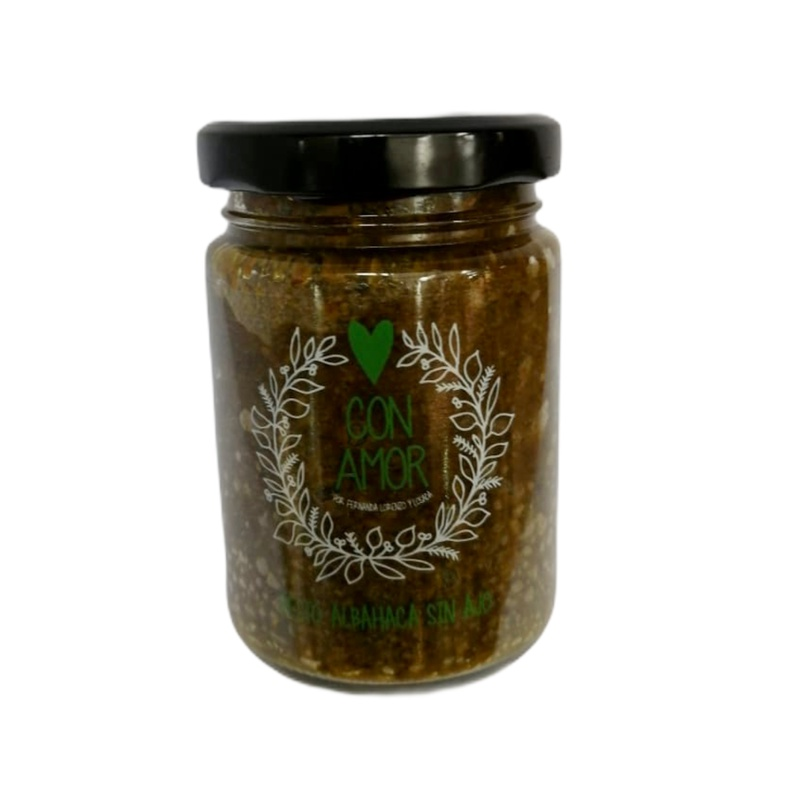 Pesto Albahaca sin ajo 130gr con Amor (MF)