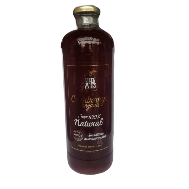 Jugo Natural Cranberry Manzana 100% 1Lt (Ruben Aviles)