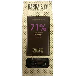 Chocolate 71% Ecuador 100gr (Barra & Co)