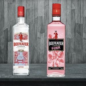 1 Gin Beefeater 40GL + 1 Gin Beefeater Pink 37° 750cc. Despacho Gratis