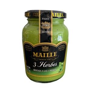 Mostaza Maille 3 Herbes 215gr (Velarde)