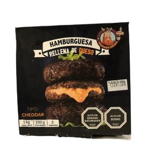 Hamburguesa Rellena Cheddar 5 Unidades (Hungry Peter)