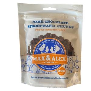 Stroopwafel chunks Dark 200gr