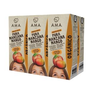 Pack 6 Jugo de Fruta Manzana / Mango Org. 200cc