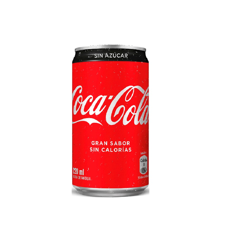 Coca Cola Zero Lata 220 CC