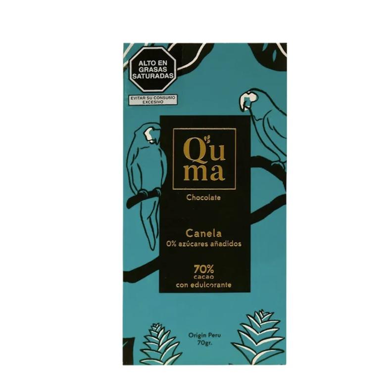 Chocolate Canela 70% cacao Quma 70gr