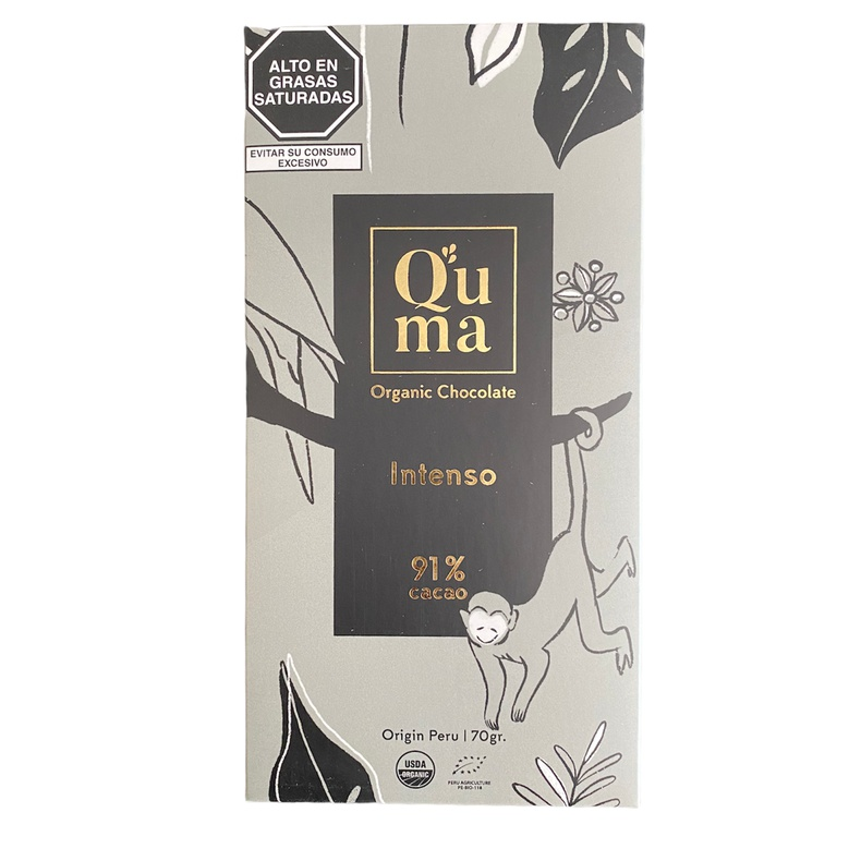 Chocolate Intenso 91% cacao Quma 70gr