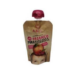 Pure De Fruta Organico Manzana Frambuesa Ama(LOGO)