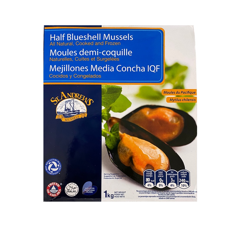 Mejillon media concha 1 kilo (St Andrews) mariscos