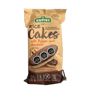 Rice Cakes Dark Chocolate 6U° galletas de arroz