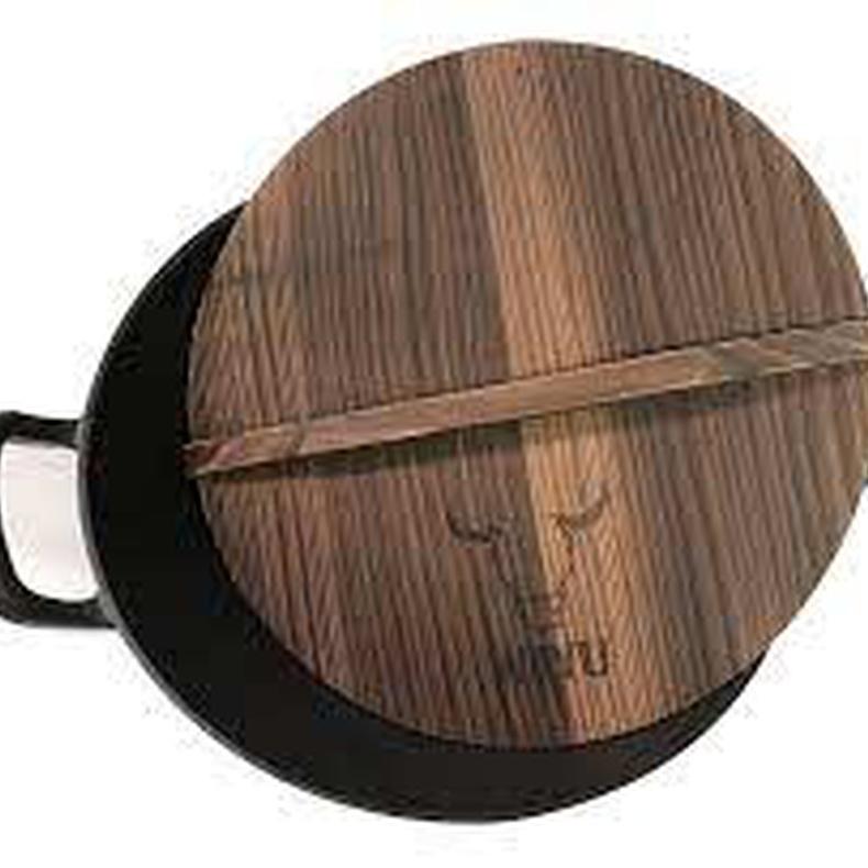 Olla con tapa de madera wayu