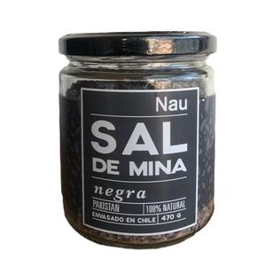 Sal de Mina Negra 470 grs (Nau) Sal