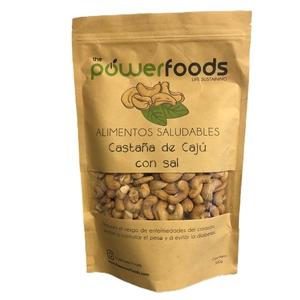 CastaNas de Caju Sin Sal 500 Gr (Powerfoods)