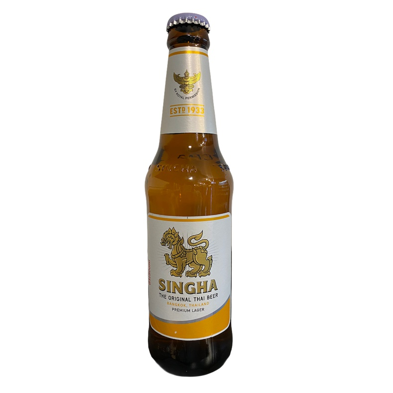 Cerveza Singha thai lager beer 330ml