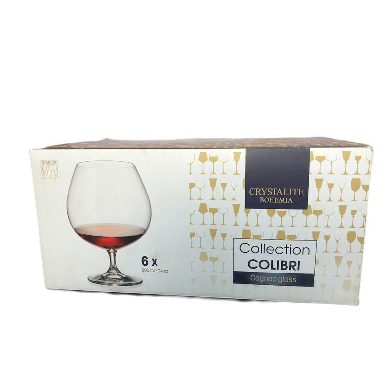 Set 6 copas bohemia Cognac