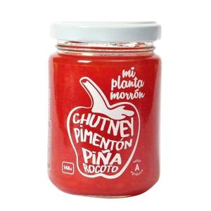 Chutney Pimentón Piña Rocoto 148gr Mi Planta Morron