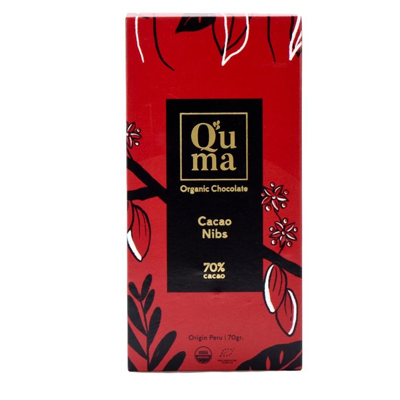 Chocolate Cacao Nibs 70% cacao Quma 70gr