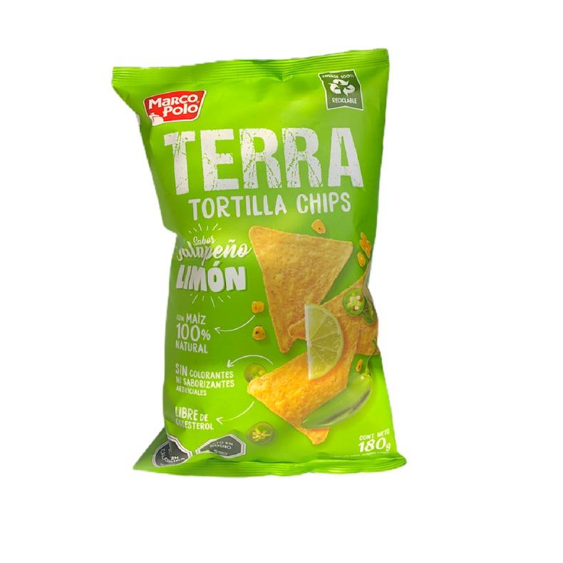 Tortilla chips Terra Jalapeño Limon 180g (MARCO POLO)