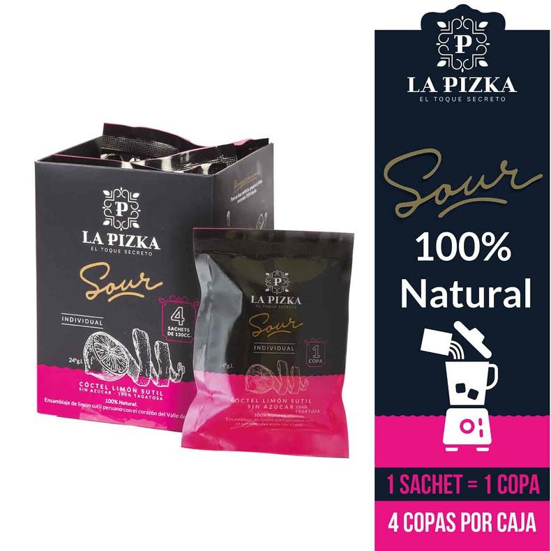 La Pizka Pisco Sour caja Sachets congelado Sin azucar