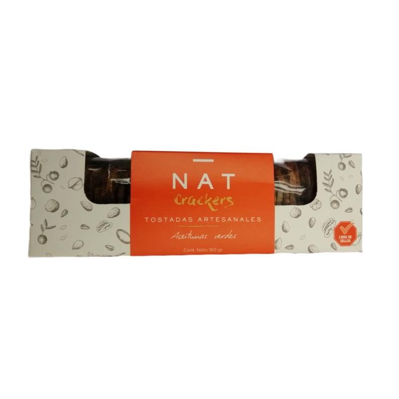 Crackers Nat Aceitunas Verdes Galletas