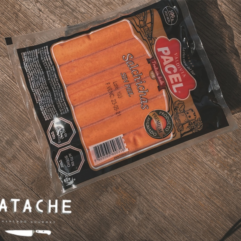Salchicha sin Piel 500 gr (PACEL)