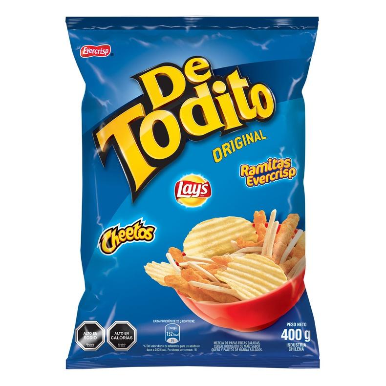 De Todito Original 400 Gr (Evercrisp) Salados