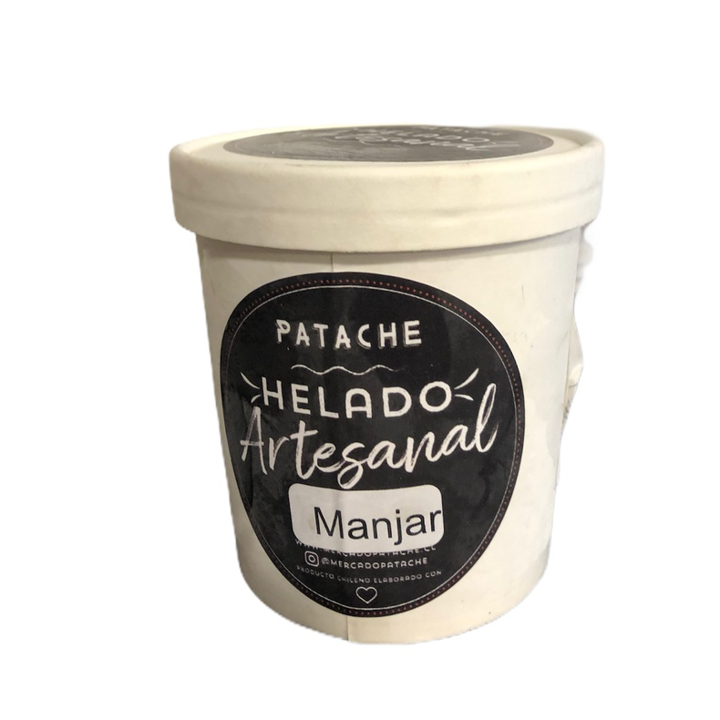 Helado Artesanal Manjar 500ml (Patache)