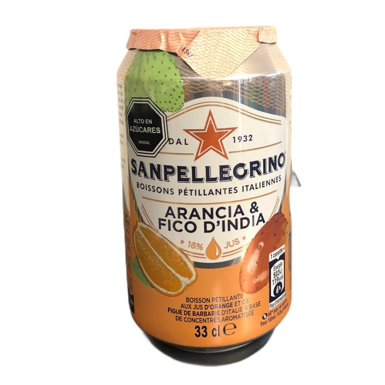 Agua Sanpellegrino Cans Ficodindia e Arancia 330ml. (Premium Brands)