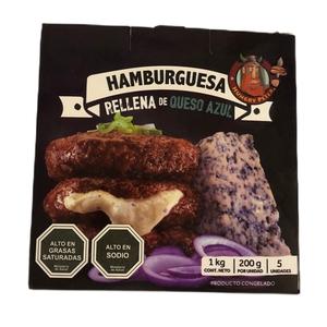Hamburguesa Rellena Queso Azul 5 Unidades (Hungry Peter)