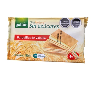 Galleta Barquillos de Chocolate S/ Azucar 210gr (gullon)