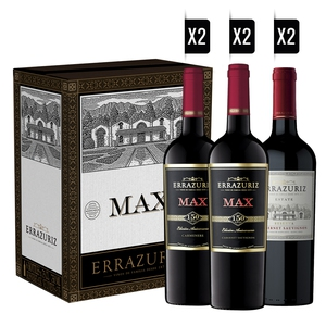 Pack Errazuriz (2 MAX CS) (2 MAX CM) (2 ESTATE CS) + 2 COPAS DE REGALO
