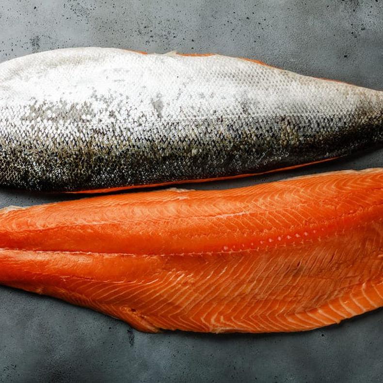 Salmon Filete Con piel congelado  (morton's) (Corte de 1,70 kg)