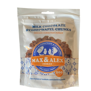 Stroopwafel chunks Milk 200gr